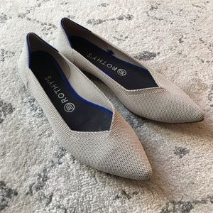 Rothy's The Point 9.5 Flax Women's Flats